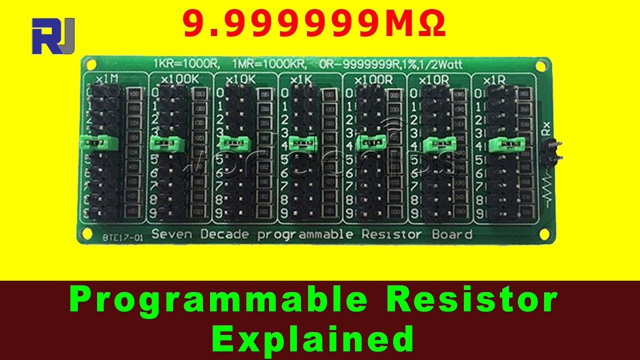 Programmable Resistor 9.999999MΩ Explained with Schematic on