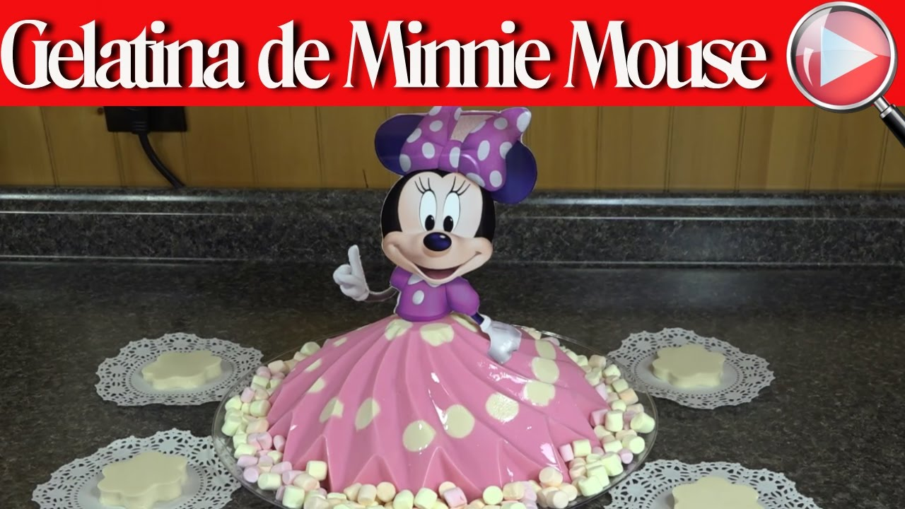Gelatina de Minnie Mouse / De Yogurt y Tres Leches ...