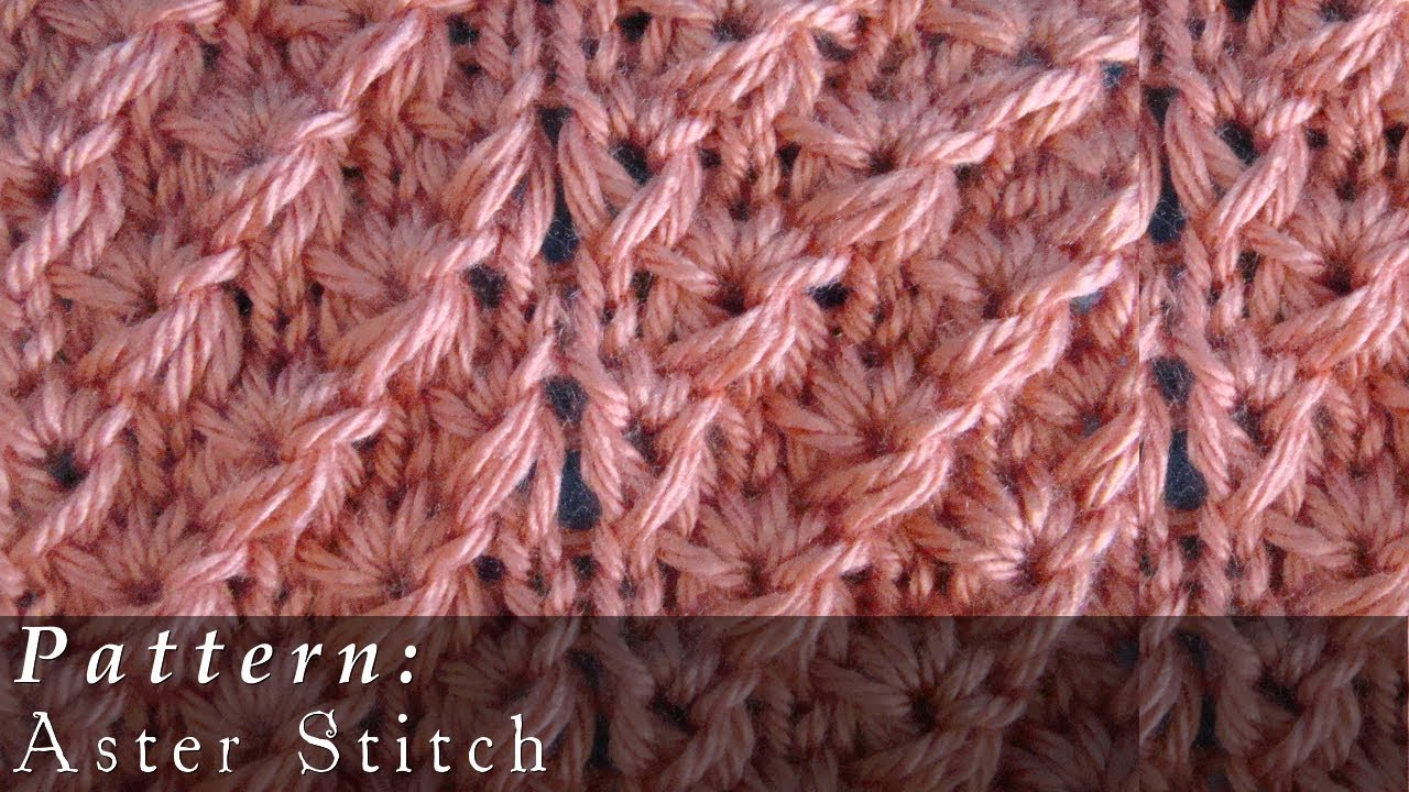 Knitting Stitches Instructions Slip Stitch : Aster Stitch Knit Slipped Stitches - YouTube
