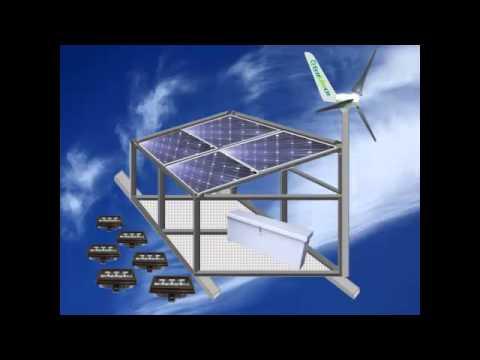 EcoLiteco Hybrid Solar and Wind Billboard Lighting Solution