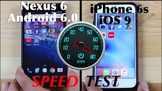 iOS 9 Iphone 6s VS Nexus 6 Android 6.0 Marshmallow SPEED TEST!