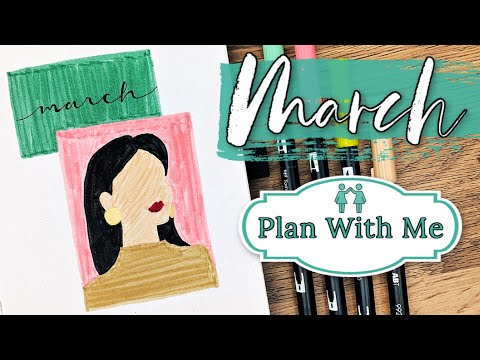 Plan With Me    MARCH 2020 Bullet Journal Set Up    Women's Day + Female Empowerment Theme