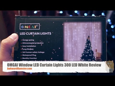 OMGAI Window LED Curtain Lights 300 LED White Review
