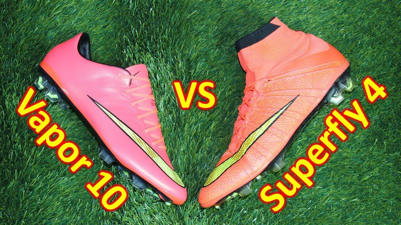 online store d2dff 7fad9 Nike Mercurial Superfly 4 VS Mercurial Vapor 10 - Comparison + Review
