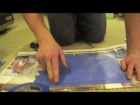 How to create a stencil/sticker for camouflage - YouTube