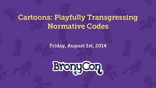 Cartoons: Playfully Transgressing Normative Codes