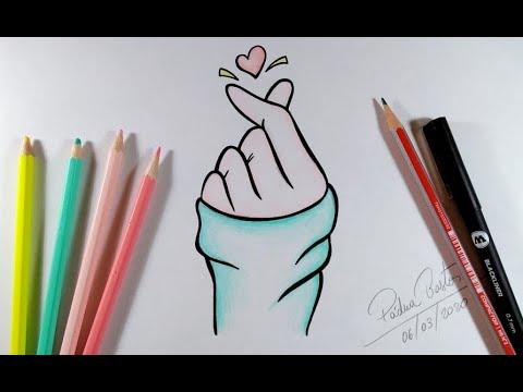 Download Como Desenhar CORAÇÃO COREANO / Vamos Desenhar? #arteeciabrasil
