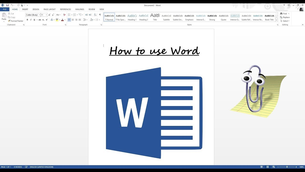Microsoft Word: The How-To Guide