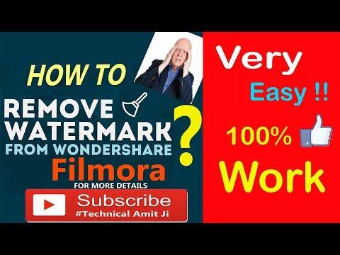 HOW TO REMOVE WATERMARK FROM WONDERSHARE FILMORA (FREE)  100% WORK