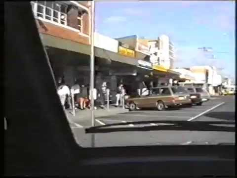 A drive around Traralgon's CBD in 1989 (from old VHS vision)
