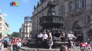 Eros Statue at Piccadilly Circus, London by Rooms and Menus