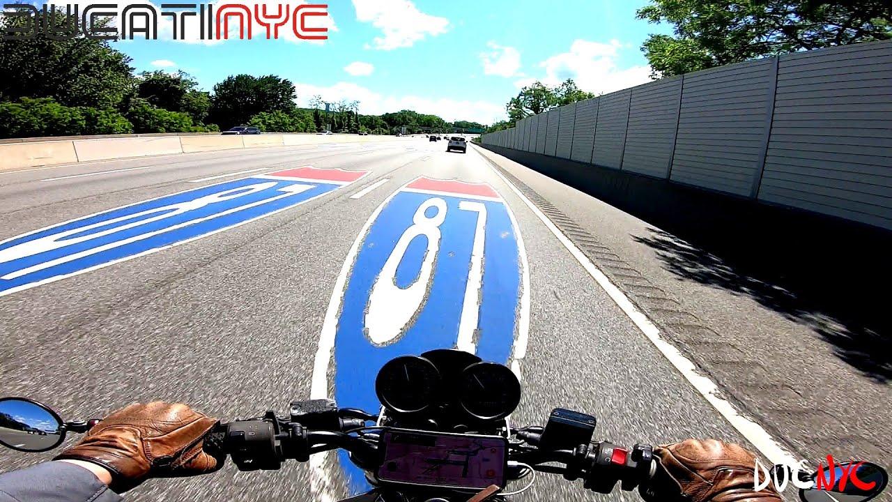 Long Ride  - Saw Mills, BQE, Tappan Zee - Ducati ASMR from Nyack to NYC v1271