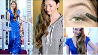 Getting Ready | Hair, Makeup, & Outfit for Grammy's 2014! Thumbnail