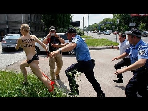 FEMEN protest in Kiev - no comment