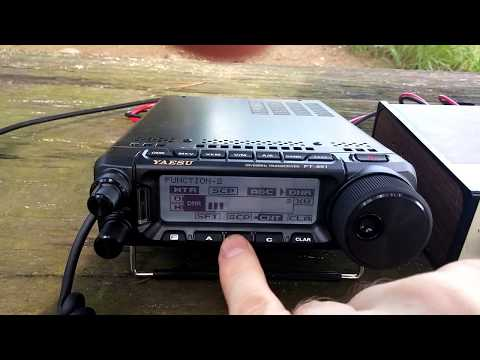 Yaesu FT-891 QSO with HL1ZIX/P and VK3SS