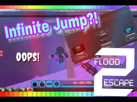 Roblox Flood Escape Secret Wall Get 5 000 Robux For The Double Jump Youtube