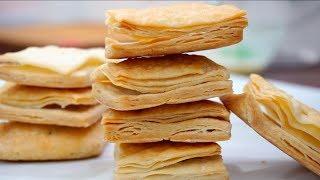बेकरी जैसी खारी अब घर पे बहुत आसानी से तैयार करे -  khari biscuit recipe - puff pastry