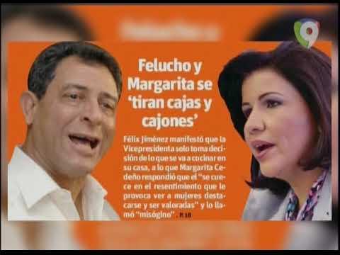 Margarita Cedeño responde a Felucho Jiménez; lo llama misógino e ignorante (2/2) – Hoy Mismo