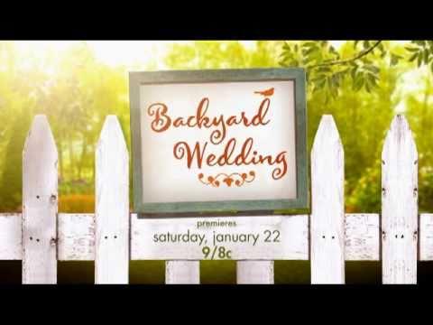 Hallmark channel backyard wedding