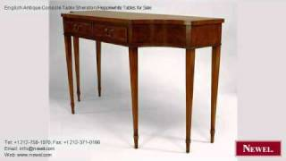 English Antique Console Table Sheraton/hepplewhite Tables