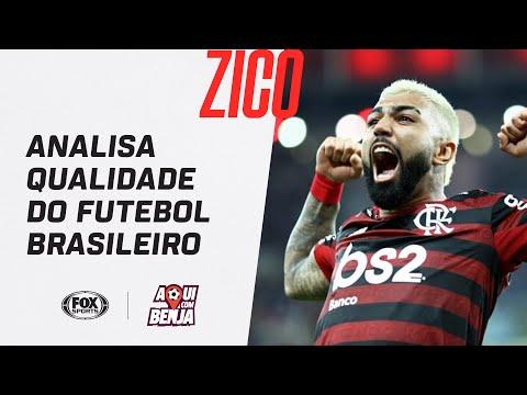 """""""NOSSOS GRANDES JOGADORES ESTÃO TODOS NA EUROPA"""": Zico analisa qualidade do futebol brasileiro"""