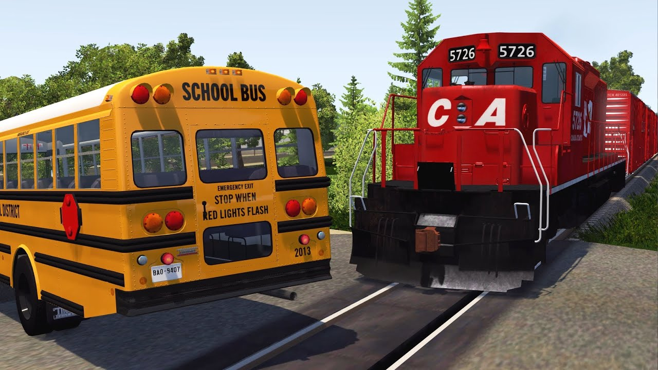 Download Train Close Calls & Near-Miss Accidents 2 | BeamNG.drive