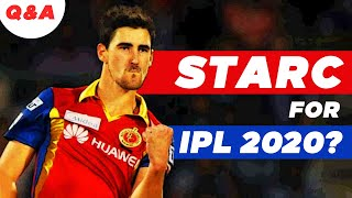 Will MITCHELL STARC be back for IPL 2020?   #AskAakash   Cricket Q&A