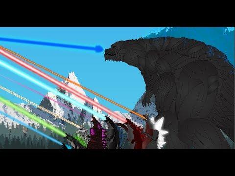 Atomic breath : Godzillas  Comparison - Godzilla 2003, Kiryu,Zilla Jr, Shin Godzilla, Godzilla Earth