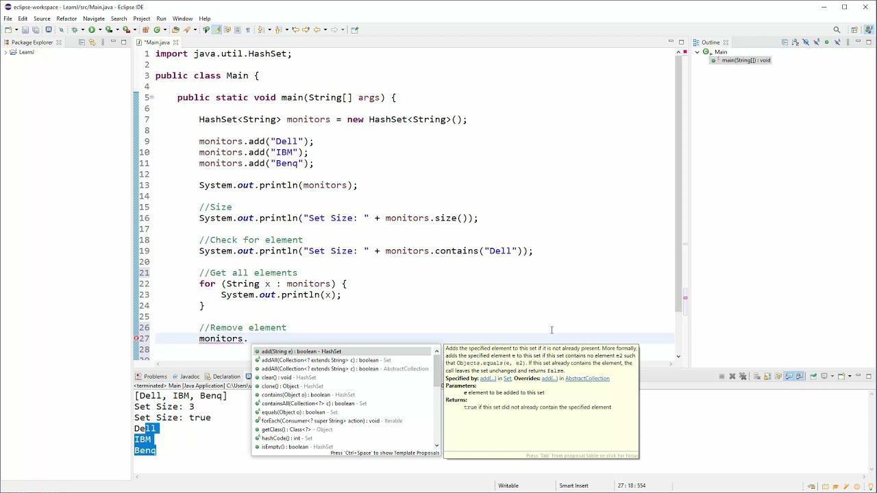 Java OO Tutorial - 39 - HashSet