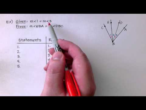 Geometry 2-6:  Prove Statements About Segments And Angles