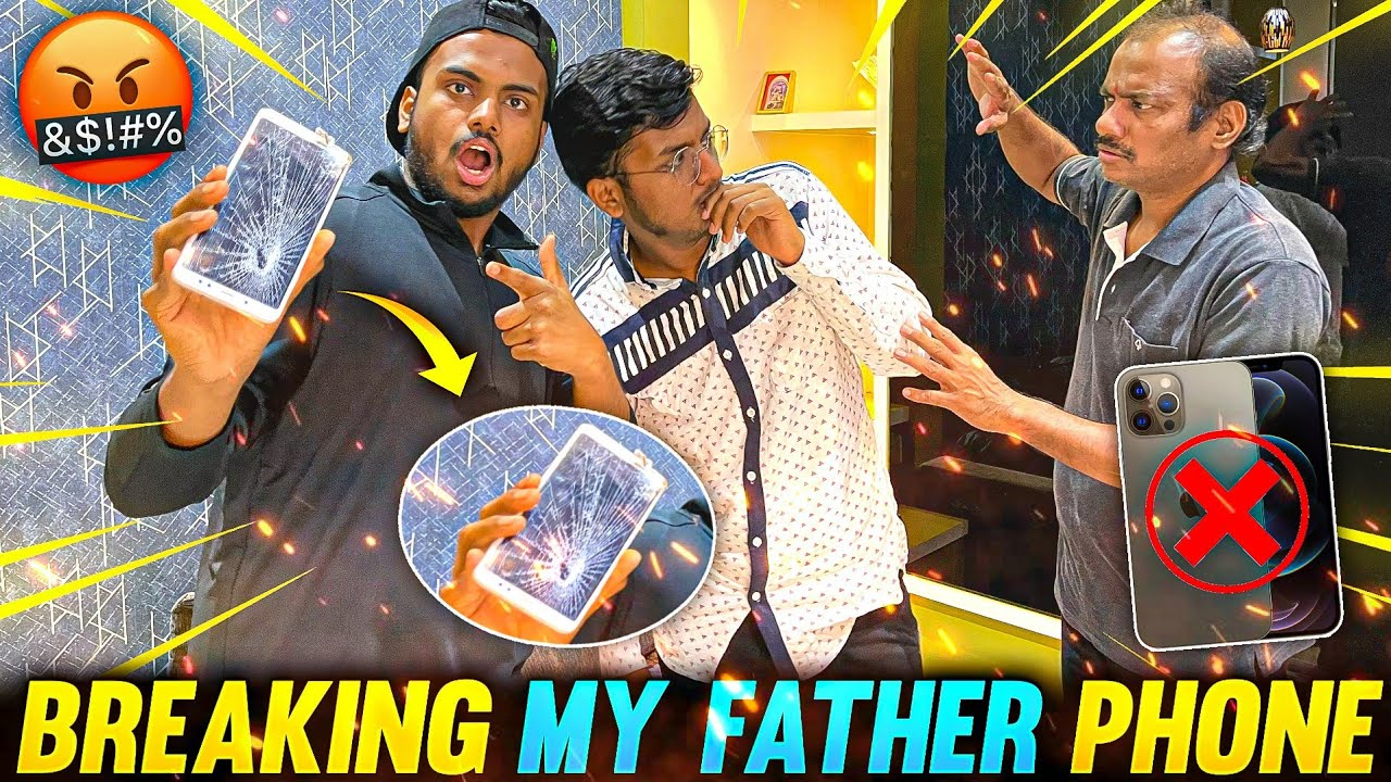 Breaking My Father's Phone Gone Wrong And Gifting Him New 60000 Rs Phone Vlog 😱 - Garena Free Fire