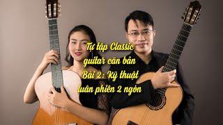 Hướng dẫn học guitar cổ điển bài số 2: Kỹ thuật luân phiên 2 ngón