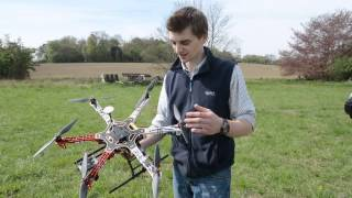 Drone designed to scare pigeons at west Suffolk farm