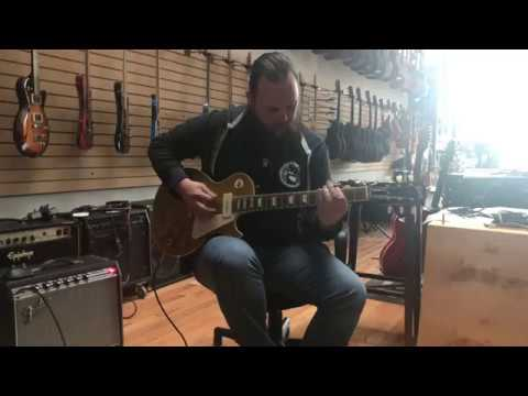 Michael Baideme Noodling Around on a 2014 r4 1954 Reissue Wildwood Goldtop Les Paul Guitar