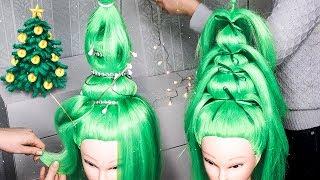 🎄ЁЛКА из ВОЛОС🎄Новогодняя Прическа🎄Christmas Tree Hair Tutorial🎄Удивительные Прически