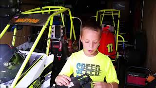 Easton Miller of ERM Racing Talks About Safety Equipment for His Quarter Midget