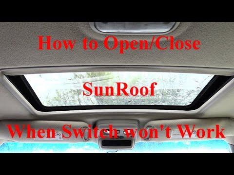 SunRoof won't Open/ Close Quick Hack! Works on Most Vehicles