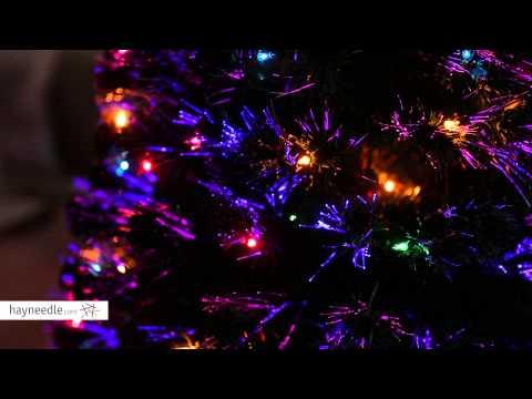 6 ft. Fiber Optic Evergreen Pre-lit LED Christmas Tree - LIGHTS DEMO