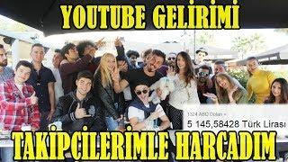 YouTube Kazancımı Takipçilerimle STARBUCKS'ta Çatır Çatır Yedim !!