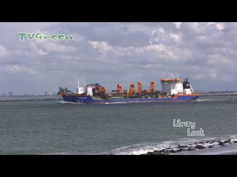 Tweede Maasvlakte aanleg Offshore haven - Zandsuppletie Hopper Dredger 'Rotterdam'