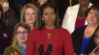 Michelle Obama gives final speech as first lady