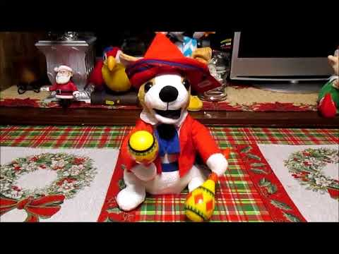 Animated Singing Christmas Dog  Doll Mamacita donde esta Santa Claus
