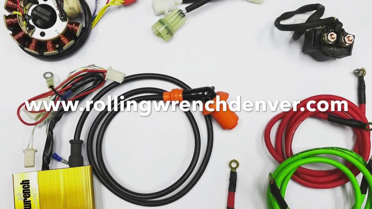 medium resolution of gy6 honda ruckus wiring harness plug and play 20 minute install gy6 honda ruckus wiring harness