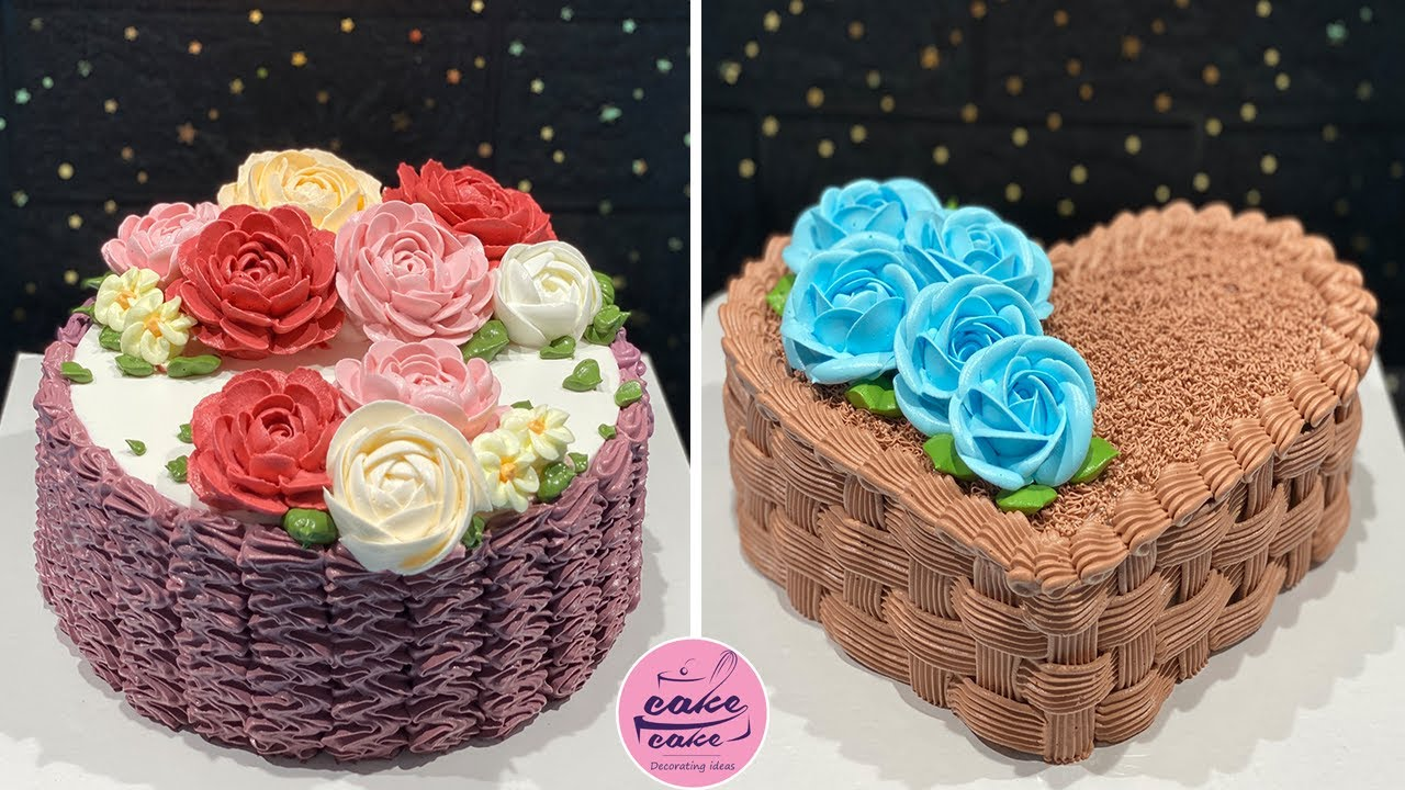 Awesome Flower and Heart Cake Decorating Tutorials Ideas For Occasion | Perfect Cake Compilation