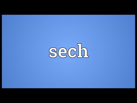 Sech Meaning