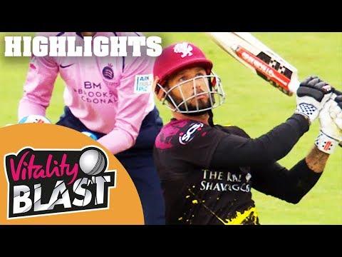 Hosts Hit 5th Highest Score Of Blast 2018 | Somerset v Middlesex | Vitality Blast 2018 - Highlights