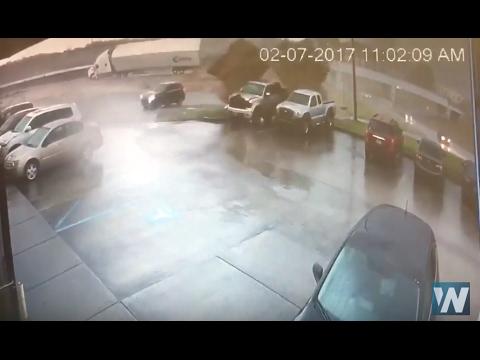 Louisiana Tornado Damage –Security Cam