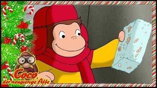 Coco der Neugierige Affe ❄️Weihnachten 🎁Die Tage vor dem Schnee 🐵Ganze Folgen🐵Cartoons für Kinder
