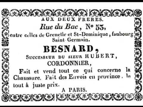 Rue du Bac Paris.  Boutiques d'autrefois