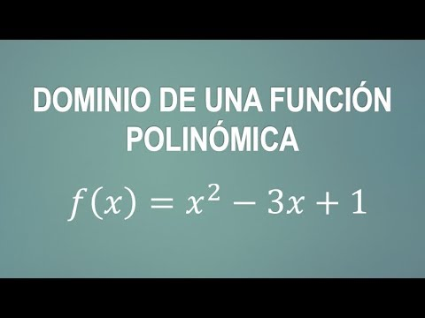 Dominio De Una Funcion Polinomica 3 Ejemplos Matematica Youtube